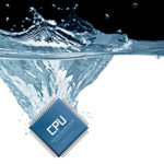 Photo: microchip plunging into water